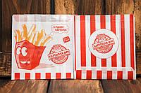 Упаковка для картофеля фри средняя (100-150г) 1786