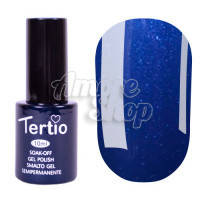 Гель-лак Tertio №182 (синий, микроблеск), 10 мл