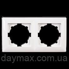 Рамка двойная Gunsan Visage, VS 28 11 141, белая