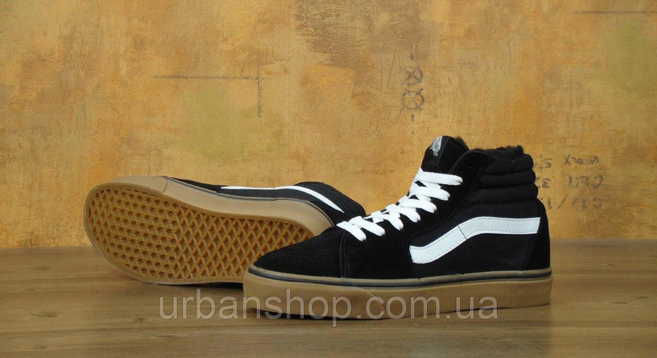 ... зимові Кеди ванс венс ванси венси vans SK8 - Hi. Winter Edition Black  Gum 3cc36b070db06