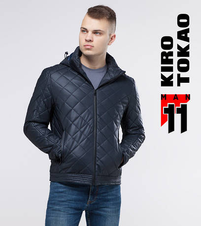 11 Kiro Tokao | Демисезонная куртка мужская 4722 темно-синий
