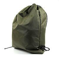 Рюкзак текстильный пляжный для мяча ручная работа хаки 066