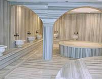 Мраморная полированная плитка Ekvator для хамама, для ванной, басейна.