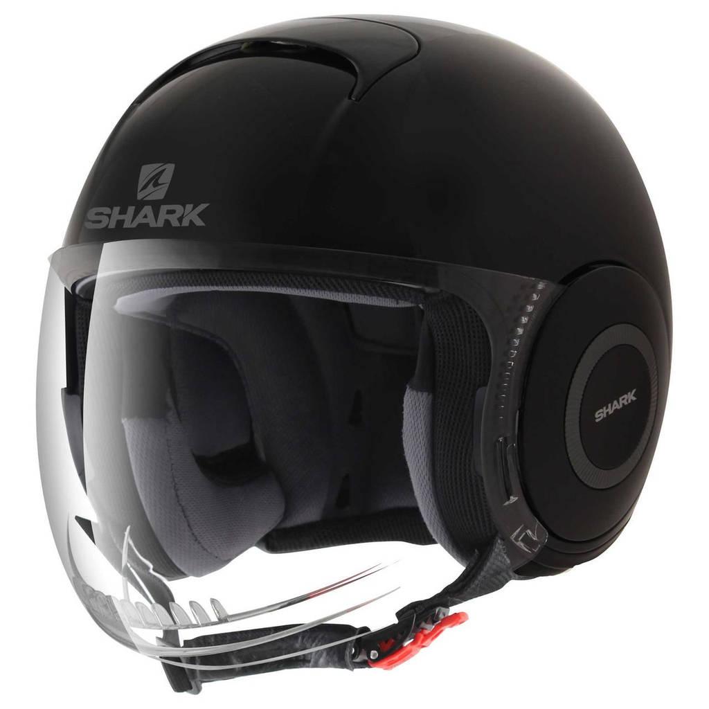 Шлем Shark Nano Blank р.M, черный глянец