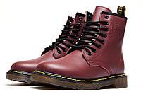 Ботинки женские Dr. Martens, бордовые (3197-3),  [  36 (последняя пара)  ]