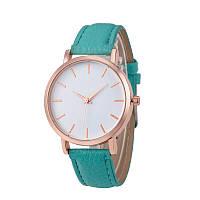 Часы женские наручные кварцевые Montre Femme Reloj Mujer c зелёным браслетом