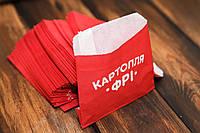 Упаковка для картофеля фри 105х120х0 мм. (280Ф)