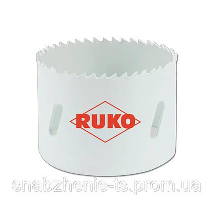 Коронка по металлу 95 мм HSSE-Co 8, биметаллическая c мелкими зубьями, RUKO, фото 2