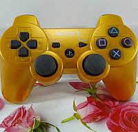 Джойстик Беспроводной  PS3 (Золотой), фото 1