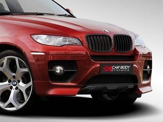 Губа переднего бампера тюнинг BMW X6 E71