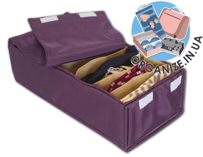 Коробочка для носочков с крышкой ORGANIZE (амаретто)