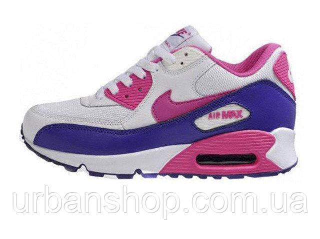Кросівки жіночі, obuwie damskie найк найки найкі nike Air Max 90 grey  purple pink - ed7094c1abc