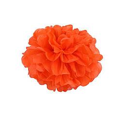 Декор бумажные помпоны (оранжевый)