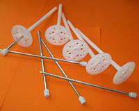 Дюбель для пенопласта ваты с мет. гвоздем и термоколпачком d-10мм. Длина 90-300мм.