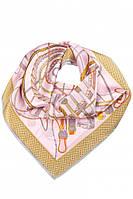 Шелковый платок с узором (розовый)