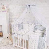 Балдахин Baby Design белый с цветной лентой (в ассортименте)