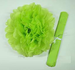 Декор бумажные помпоны (салатовый)
