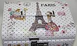 Сундучок для украшений, белый, Париж, кодовый замок, фото 2