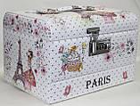 Сундучок для украшений, белый, Париж, кодовый замок, фото 3