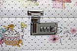 Сундучок для украшений, белый, Париж, кодовый замок, фото 4