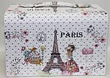 Сундучок для украшений, белый, Париж, кодовый замок, фото 5