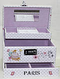 Сундучок для украшений, белый, Париж, кодовый замок, фото 6