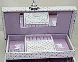 Сундучок для украшений, белый, Париж, кодовый замок, фото 7
