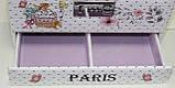 Сундучок для украшений, белый, Париж, кодовый замок, фото 9