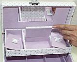 Сундучок для украшений, белый, Париж, кодовый замок, фото 10