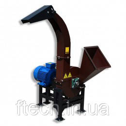 Подрібнювач деревини (Щепоріз) з електродвигуном 7,5 кВт