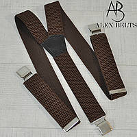 Подтяжка взрослая мужская  (коричневый) 40 мм Y-купить оптом в Одессе