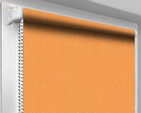 Ролеты тканевые (рулонные шторы) Лен, пастельно-желтый 0852, открытый короб