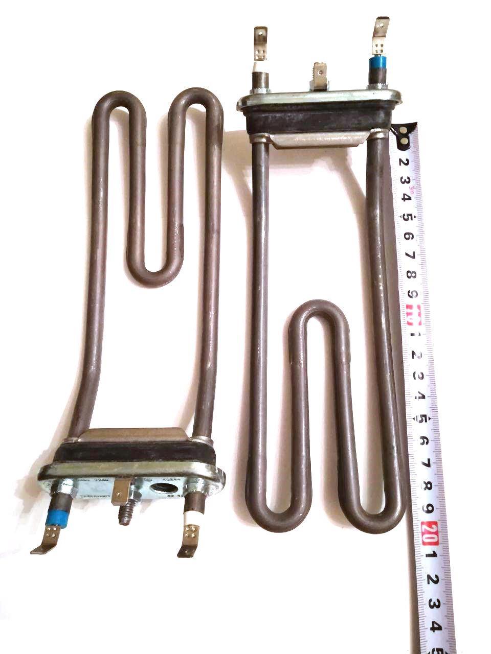 Тэн на стиральную машину 1950W гнутый / L=200мм под датчик / Thermowatt (Италия)