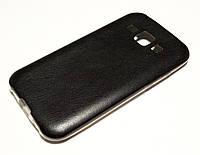 Чохол для Samsung Galaxy J1 j100 (2015) силіконовий під шкіру чорний, фото 1