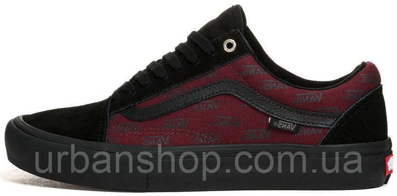 Чоловічі, obuwie męskie кеди ванс венс ванси венси vans Old Skool Pro Port Royale Black/Red.