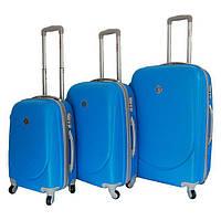 Набір валіз на колесах Bonro Smile Блакитний 3 штуки, фото 1