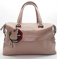Удивительная женская сумочка Furla из натуральной кожи темно-розового цвета WMM-097222