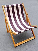 Шезлонг деревянный для дачи (из дерева) (3 положения, ширина 60см), кресло-шезлонг садовое
