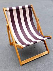 Шезлонг деревянный для дачи (сосна) (3 положения, ширина 60см), кресло-шезлонг садовое