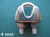 Нержавеющий зажим для троса 4 мм