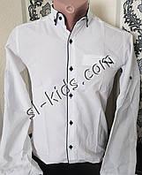 Стильная рубашка для мальчика 2-9 лет(розн) (белая) (пр. Турция)