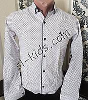 Стильная рубашка для мальчика 2-9 лет(опт) (белая01) (пр. Турция)