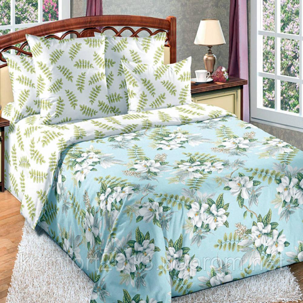 Двуспальное постельное белье, Тропики, перкаль 100% хлопок