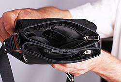 Мужская кожаная сумка Daniel Albaro 24*19 см, фото 3
