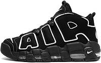 Кросівки жіночі, obuwie damskie найк, найкі, найки Nike Air More Uptempo Black/White., фото 1