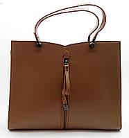 Строгая женская сумочка GАLАNTY из кожи бежевого цвета КPЕ-074055, фото 1