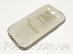 Чехол для Samsung Galaxy S3 i9300 силиконовый ультратонкий прозрачный затемненный