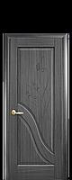 Межкомнатная дверь  Амата ПВХ DeLuxe глухая с гравировкой, цвет серый