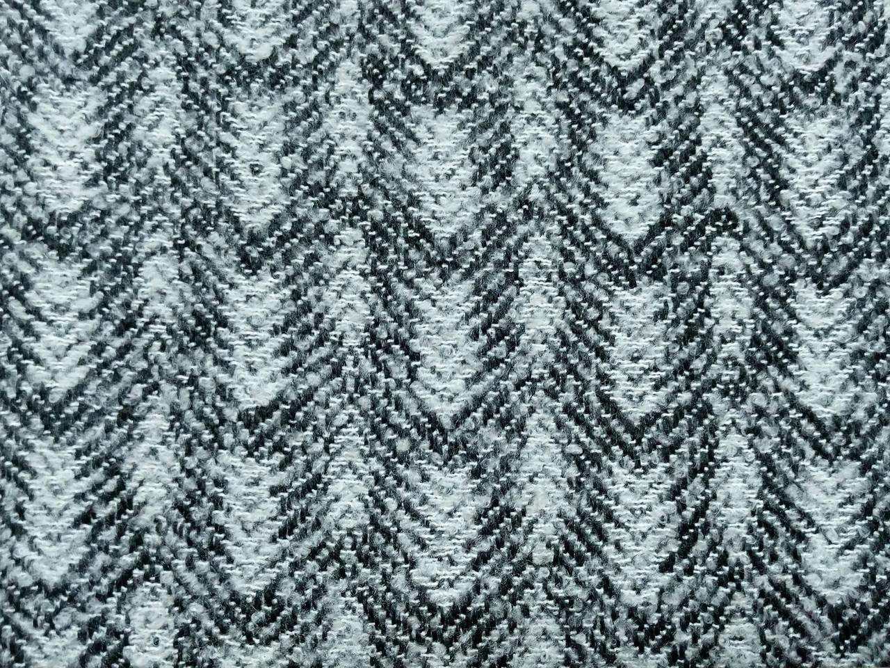 Шерсть пальтовая акрилик елочка, серый