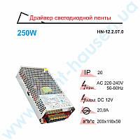 Драйвер светодиодный RIGHT HAUSEN 250W 12V 20,8A HN-122070